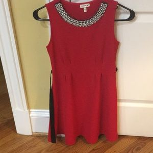Cute Fit and Flare Red Dress